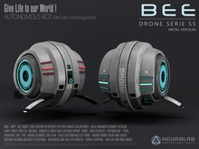 BEE DRONE S5 (Security/Greeter/Visitor Tracking System) [NeurolaB Inc.] Cyber Cyberpunk Sci-fi