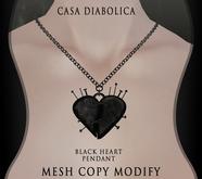 Black Heart  Pedant (Casa Diabolica)