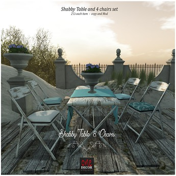 OneDecor:: Shabby Table & Chairs box