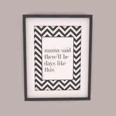 [Brixley] framed poster - mama said