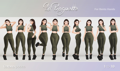 [La Baguette] Catana poses 1 to 10