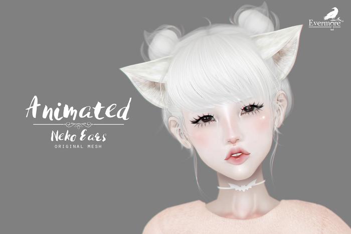 Evermore. Animated Neko Ears // WHITE