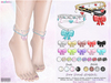 [ bubble ] Bow Pearl Anklets Set