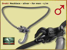 Bliensen + MaiTai - Dreki - necklace - silver - for men