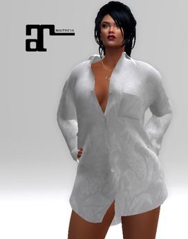 XK Maitreya The Boyfriend Shirt White Silk