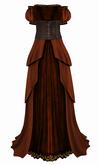 The Annex - Her Ladyship Gown - Burnt Orange