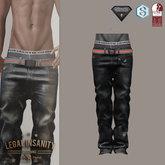 Legal Insanity - Adam black baggy jeans
