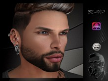 .::CDC Face Beard Catwa / Omega Black 40 **