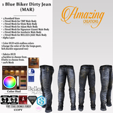 AmAzINg CrEaTiOnS 1 Blue Biker Dirty Jean (MAR)