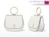 Full Perm Mesh Handbag With Holding Pose