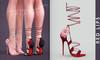 [BREATHE]-Belle Heels-Red Lips-(for Slink High Feet & Maitreya Lara & Belleza)