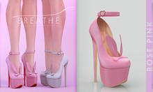 [BREATHE]-Bunny Heels-Rose Pink-(for Slink High Feet & Maitreya Lara & Belleza)