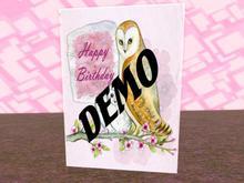 MagDilly, Birthday Card Demo
