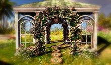 CJ Amanda Gazebo ~ copy + mody ~ 3 diff. Colors of Roses