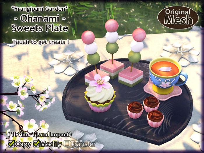 *FG* Ohanami Sweets Set {Sweets Plate}