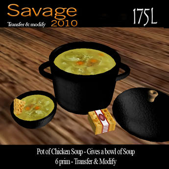 Pot of Chicken Soup - Gives Soup Bowl