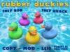 Rubber Duck -  5 Colors + Full-Perm Quacking & Bobbing Script