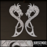 [Kres] Kattegat Dragon Wall Art - Silver