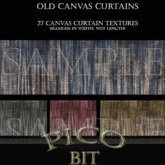 Old Canvas Curtains Textures