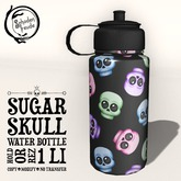 Schadenfreude Sugar Skull Water Bottle