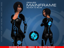 GRAVES Mainframe - Black & Blue Suit + inclusive Omega, TMP appliers