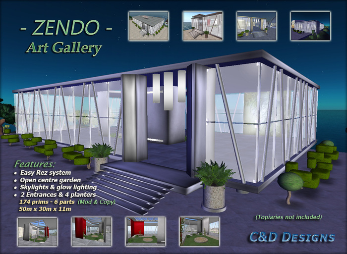 Second Life Marketplace C D Designs Zendo Art Gallery Build Prefab,Chase Credit Card Designs