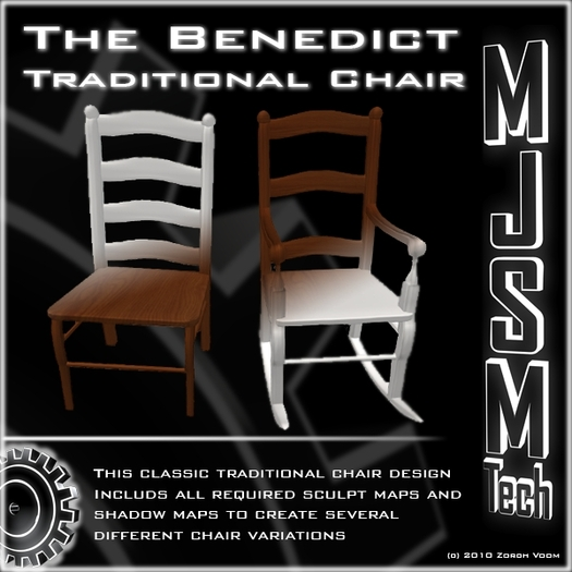 The Benedict - Traditional Chair - Builder Kit