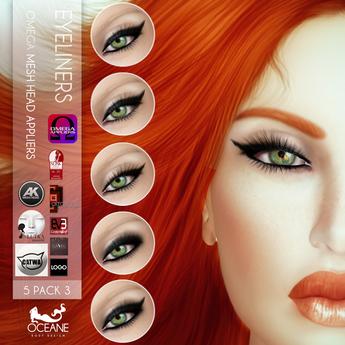 Oceane - Eyeliners Applier 5-Pack 3 [OMEGA]