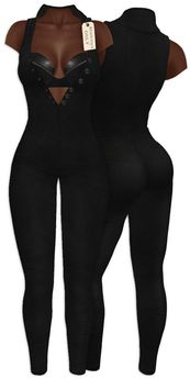 Yasum**ADD ME*Maitreya ONLY*Suede Catsuit*Black