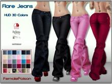!FP! Flare Jeans Big Pack HUD 30 Colors - Belleza Isis Freya Venus Slink Hourglass Physique Maitreya Lara