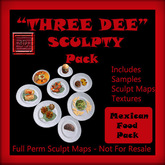 """""""Three Dee""""Mexican Food Sculpty Pack"""