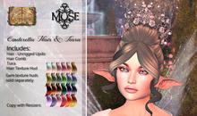 [MUSE] Cinderella Hair Updo - Fantasy pkg Hud
