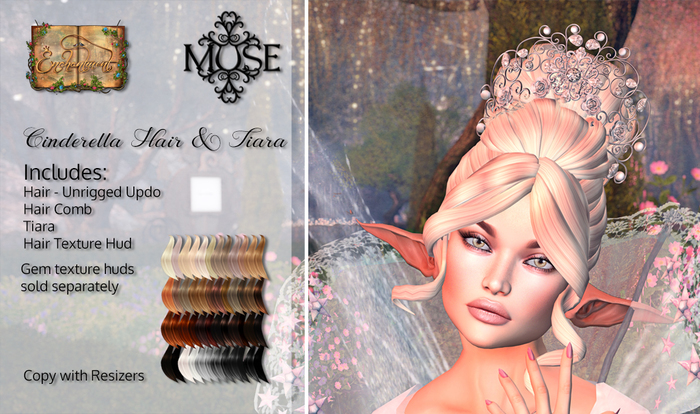 [MUSE] Cinderella Hair & Tiara - Naturals Loaded