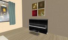 Akaesha's Black Chrome Upright Piano Engraved Black Wood Dark Wood tagmeadowbrook