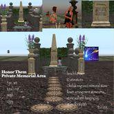 Honor Them Private Memorial set  Cream crate