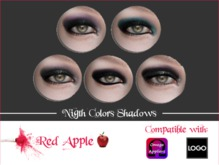 Red Apple  - Omega/Logo Eyeshadows Night Colors
