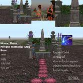 Honor Them Private Memorial area Rose-crate