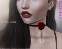 *PerveTTe* Luxury Choker [Black and Red]
