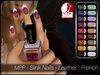- MPP - Slink Finger & Toe Nails HUD - Leather - French