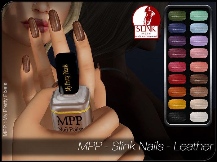 - MPP - Slink Finger & Toe Nails HUD - Leather