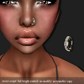 Nose ring Diamond/Gold    -RYCA-