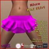 promo - SS - Micro Mini Skirt - fuchsia