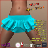 promo - SS - Micro Mini Skirt - sky