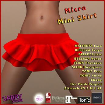 promo - SS - Micro Mini Skirt - red