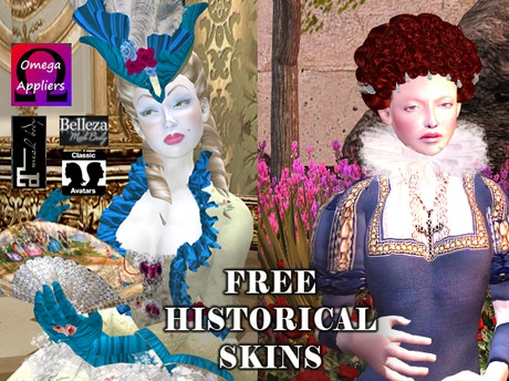 Free Historical Skin Textures for Women - MESH APPLIERS & SHAPE INCLUDED