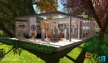 RJD Summer House with animated kitchen and bathroom