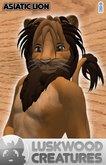 Luskwood Asiatic Lion Avatar - (Complete Male Furry Avatar)