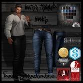 [Dallas MacKenzie Designs] Men's Leather Trim Jeans w/ BELLEZA UPDATED