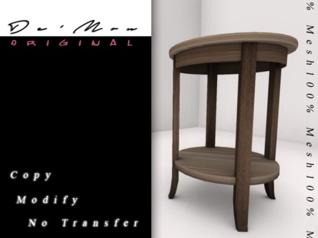 .::De'Mon::. Accent Table - Bare Wood
