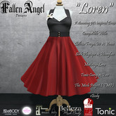 "F.A.D ""Loren"" 50's dress: Black & Red"